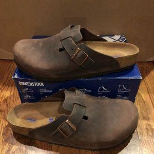 Birkenstock Boston brown leather sz 13 M new